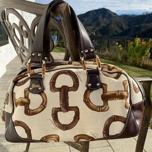 Gucci Bamboo Amalfi Boston bag like New